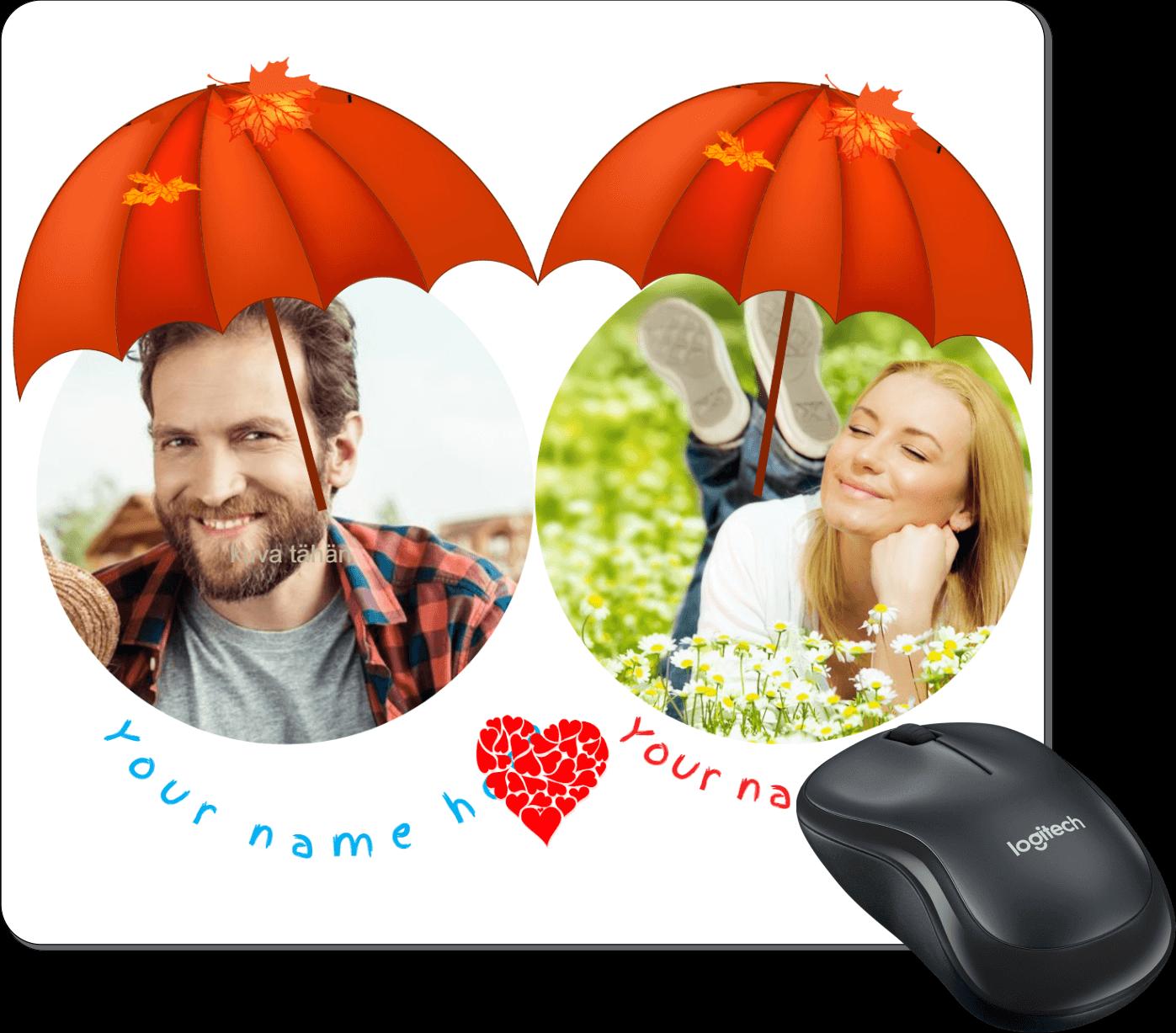 Hiirimatto You & Me sateenvarjon suojassa